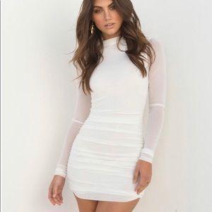 Tiger Mist White Stella Bodycon Dress